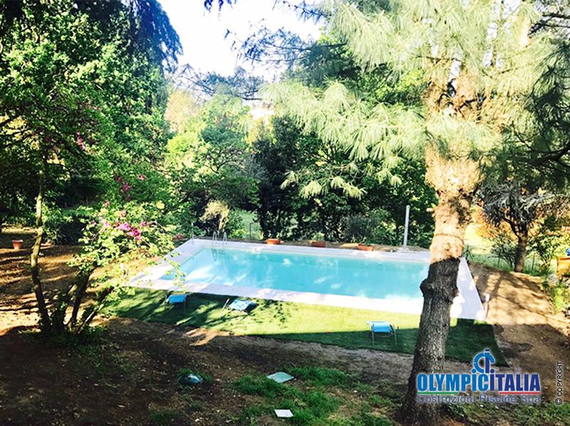 Costruzione piscina prefabbricata in pannelli Pavia